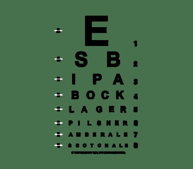 Beer Eye Chart Beer Label by BottleYourBrand