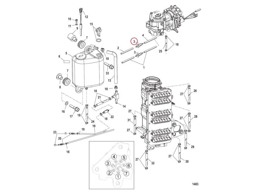 Quicksilver Mercury Mariner DFI Optimax In-Line Oil Filter