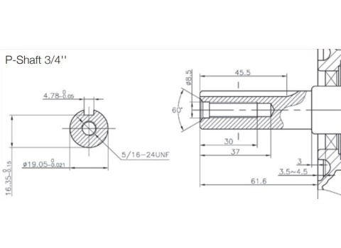 Loncin G160F-P 5.5Hp 3/4