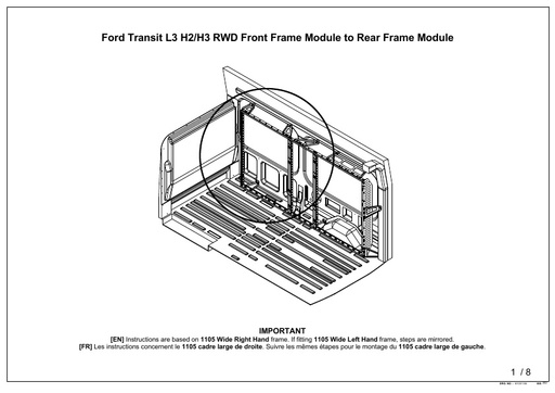 L3H3 RWD Nearside Door Panel (2014-) Mk4