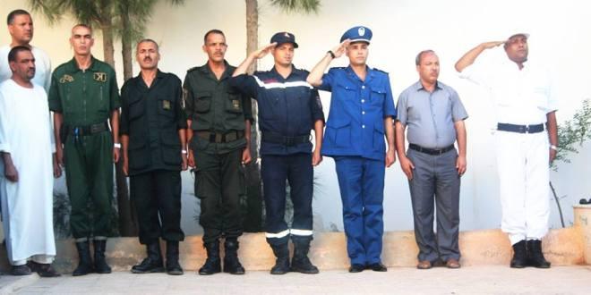 أمن دائرة بن سرور  يحتفل باليوم الوطنى للشرطة
