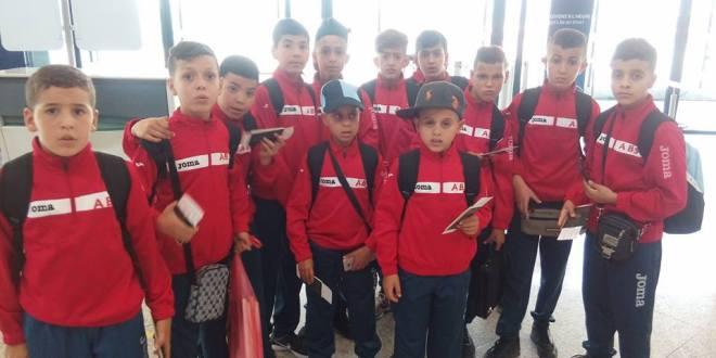 مدرسة امل بوسعادة (اقل من 12 ) يشاركون في دورة رياضية بفرنسا