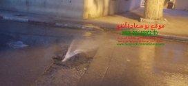 فيديو المياه الضائعة بوسط مدينة بوسعادة . والمواطن يعيش العطش