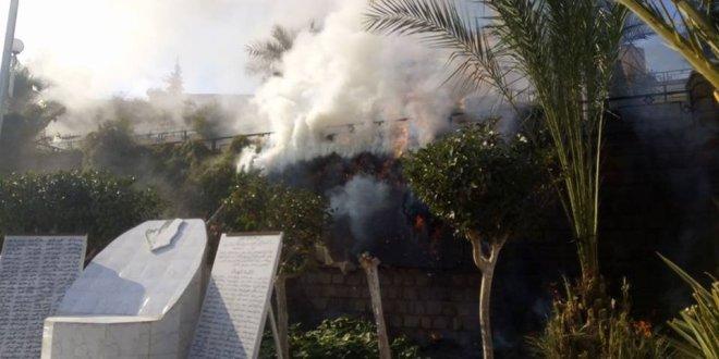 خبر عاجل .. الحماية المدنية تخمد حريق بمقبرة الشهداء ببوسعادة
