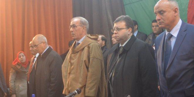 السيد حاج مقداد والي ولاية المسيلة ينصب المجلس والسيد عمران لمبارك على رأس بلدية بوسعادة،