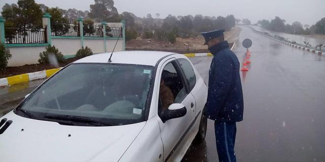 أمن دائرة جبل امساعد ينظم حملة تحسيسية بخصوص السلامة المرورية