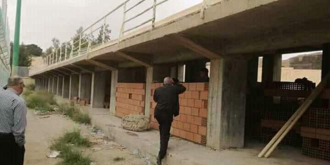 انطلاق أشغال مشروع 42 محل على مستوى ملعب الشهيد مختار عبداللطيف