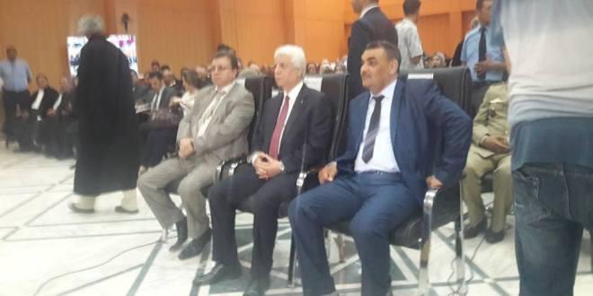 معالي وزير العدل  السيد الطيب لوح يشرف على مراسيم تنصيب رئيس المجلس القضائي لولاية المسيلة