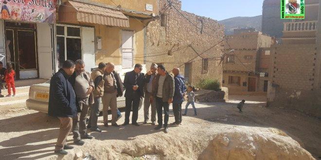 رئيس بلدية بوسعادة يشرف على انطلاق الاشغال لمشروع حي اولاد حميدة
