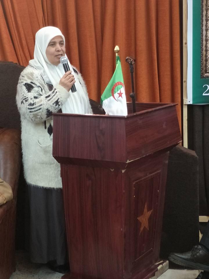 تحية شكر وعرفان للاستاذة النائب شتوح نوة عائشة على تفانيها في خدمة قضايا الوطن والولاية