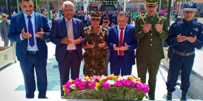 السيد ابراهيم أوشان والي ولاية المسيلة يشرف على فعاليات إحياء الذكرى 74 لمجازر 08 ماي 1945