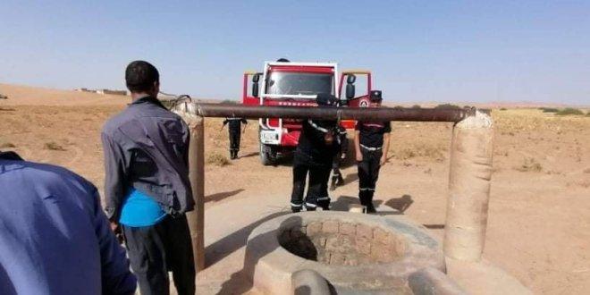 انتشال جثة شيخ 77 سنة من داخل بئر(منطقة البيازة ) ببلدية سيدي عامر