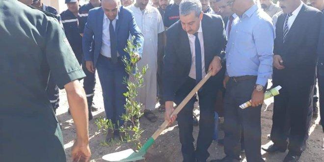 """اعطاء اشارة الانطلاق الرسمي للحملة الوطنية للتشجير تحت شعار """" شجرة لكل مواطن """""""