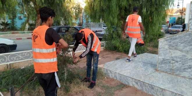 حملاتنا التطوعية للنظافة وغرس وزبر الأشجار والصبغ بمستشفى رزيق البشير اليوم