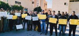 بوسعادة .. وقفة احتجاجية لعمال و موظفي المصالح البلدية