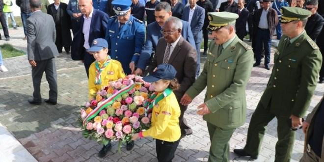 السيد الشيخ العرجا والي ولاية المسيلة يشرف على احتفال عيد النصر