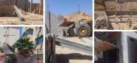 بلدية بوسعادة تقوم بعملية هدم واسعة لازالة بناءات فوضوية