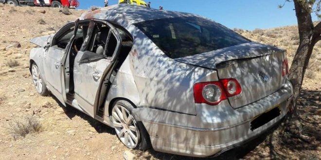 حادث مرور مميت في انحراف و انقلاب سيارة خلف وفاة امرأة بالمعاضيد