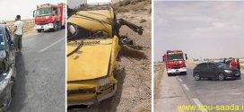 حادث مرور  في اصطدام بين ثلاث سيارات وقتيل في عملية دهس
