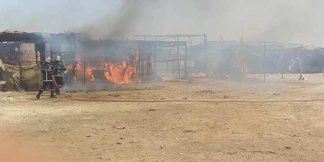 وحدة الحماية المدنية تخمد حريق على مستوى سوق الكدية بالمسيلة