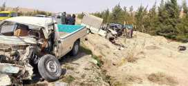 حادث مرورى  اصطدام بين سيارتين و شاحنة يخلف إصابة 06 أشخاص