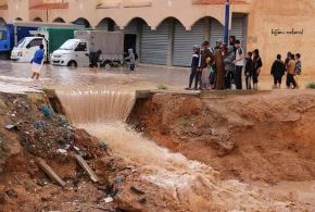 خطر الفياضنات يهدد بوسعادة بعد امطار اليوم
