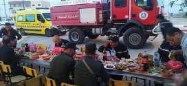 افطار جماعي على شرف الحماية المدنية والدرك الوطنى