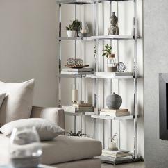 Living Room Glass Shelves Top Interior Design Rooms Chrome And Shelf With Laminated Wood Base Bouclair Com