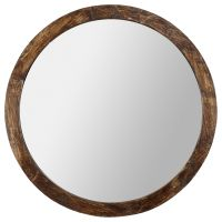 Round Wood-Framed Mirror | Bouclair.com