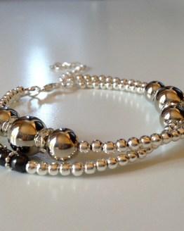Bracelet avec perles miroir