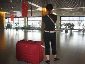 Petite pause dans le hall de l'aéroport international de Shanghai ... à Pudong ...