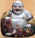 maytreya bouddha en porcelaine