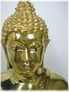 tête de bouddha doré