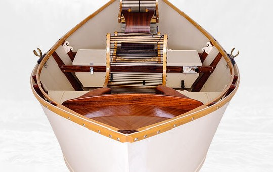 African Mahogany Drift Boat Interior