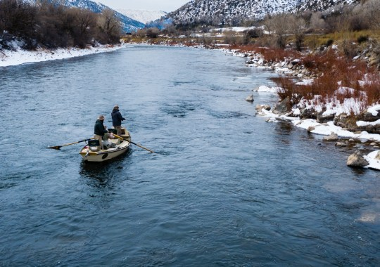 Skiff Fishing the Roaring Fork River