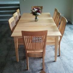 Maple Kitchen Table High Chair For Counter Dining Tables Boulder Furniture Arts Solid Prairie With Leaf