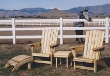 "Solid Beetlekill ""cape"" Adirondacks Boulder Furniture Arts"