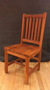 "Solid Rustic Cherry ""Schoolhouse"" Chair 