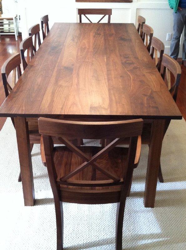 Solid Walnut Mission Table Boulder Furniture Arts