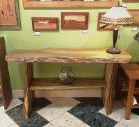Sofa Table Contemporary Rustic Blue Pine Shelf 2 | Boulder ...