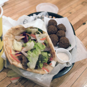 Falafel at Falafel King in Boulder.