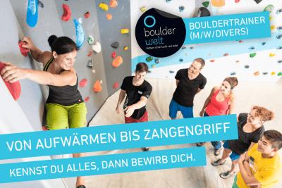 Wir suchen Bouldertrainer. Stellenausschreibung - Jobs - Klettern
