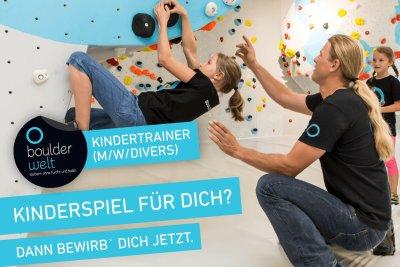 Stellenausschreibung Boulderwelt - Wir suchen Kindertrainer - Job