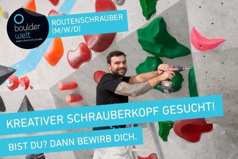 Stellenausschreibung – Boulderwelt Dortmund sucht Routenschrauber