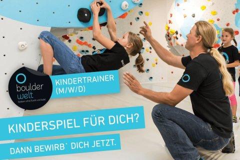 Die Boulderwelt Dortmund sucht Kindertrainer.