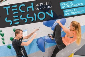 Tech Session Nr. 2 am 29.2.2020 in der Boulderwelt Dortmund