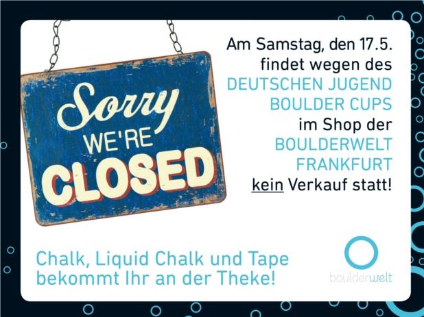 2014_Shop geschlossen morgen