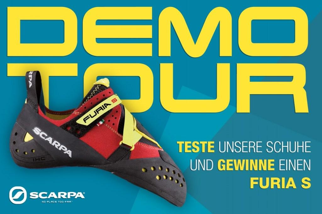 Bei der Scarpa Demo Tour in der Boulderwelt Frankfurt kannst du Kletterschuhe von Scarpa testen
