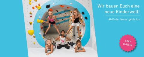 Die Boulderwelt Frankfurt baut eine neue, größere Kinderwelt!