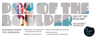 Day of the Boulder 2018 am 14.4.2018 in der Boulderwelt Frankfurt